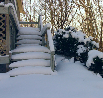 Clear your walkway and front steps