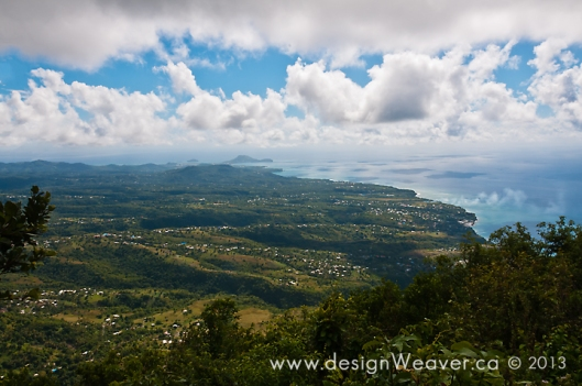View from the summit of the Gros Piton