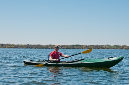 Kayaking on Lake Scugog