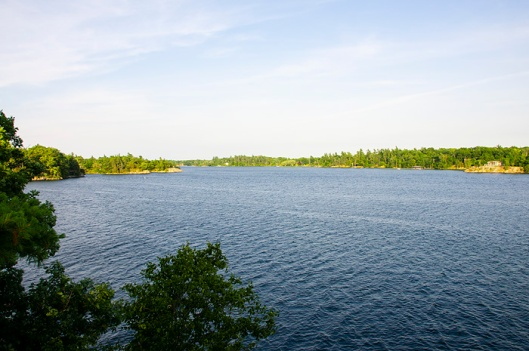 View of the St Lawrence River from Camelot Island