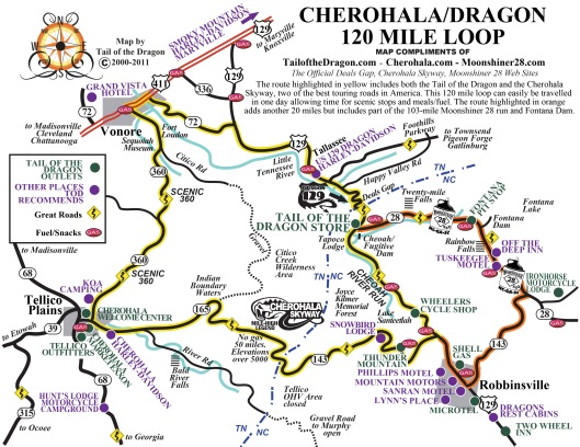 Cherohala/Dragon 120 Mile Loop