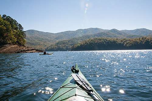Kayaking Fontana Lake